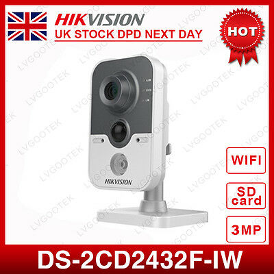 UK Hikvision DS-2CD2432F-IW 3MP WIFI IR Network HD IP PoE Security Camera 2.8MM