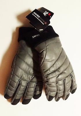 Swiss Tech 3M Thinsulate Boys GRAY FLANNEL Winter Ski Gloves Size S-M OR L-XLNEW