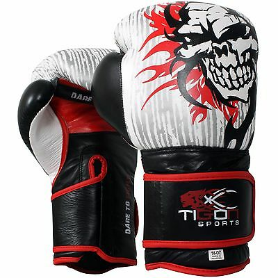 Pro Boxing Gloves Leather Sparring Punch Bag  MMA Training 10oz 12oz 14oz 16oz