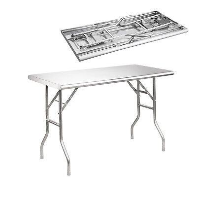 "Royal Gourmet Stainless Steel Folding Work Table Kitchen Table 48"" L x 24"" W"