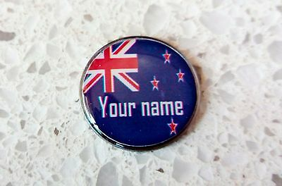 anneys - your OWN PERSONALISED  ** New Zealands flag ** golf ball marker!!