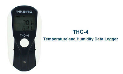 THC-4 LCD Display USB Temperature Humidity Data logger Recorder External Sensor