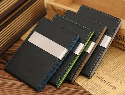 The Echo Wallet // Minimalistic // PU Leather // Metal Money Clip // SLIM // EDC