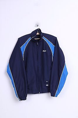FILA Boys MB 14 Age Jacket Navy Sport Training Running Vintage Tennis