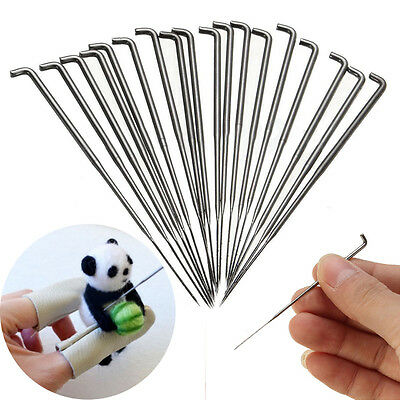 18PCS Needle Felting Kits Handle Holder Wool Felt Set Sewing Craft Tools Mat DIY