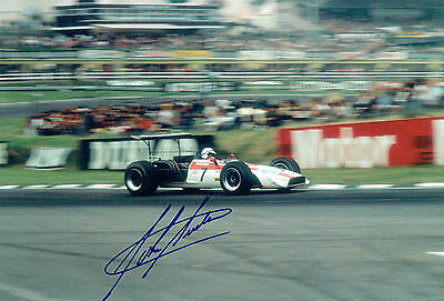 John SURTEES SIGNED Genuine Motor Racing Great F1 Photo AFTAL Autograph COA