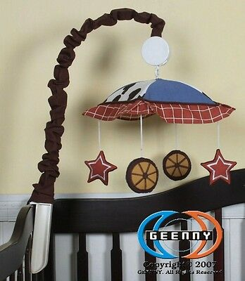 Musical Mobile For Horse & Cowboy Baby Boy Bedding Set