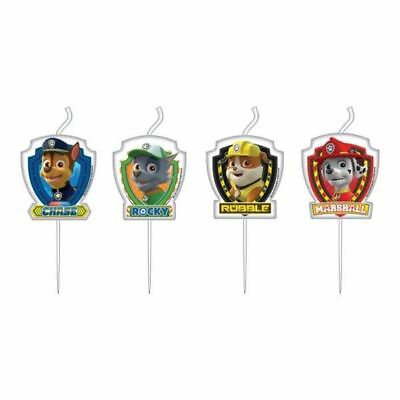 4pk Paw Patrol Mini Figure Candles Childrens Birthday Party Decorations