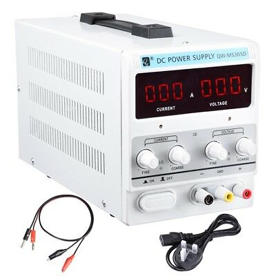 DC Power Supply 30V 5A Variable Precision Adjustable Dual Digital Lab Grade VAT