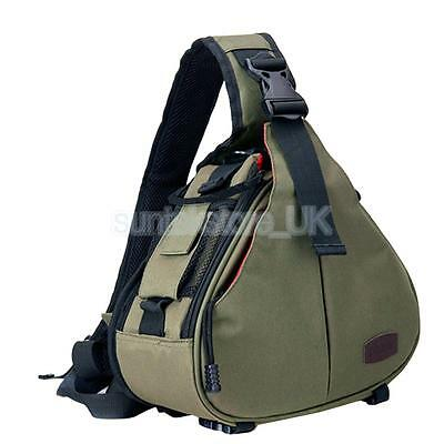 Portable DSLR Camera Bag Backpack Case Shockproof For Canon D600 600D Green