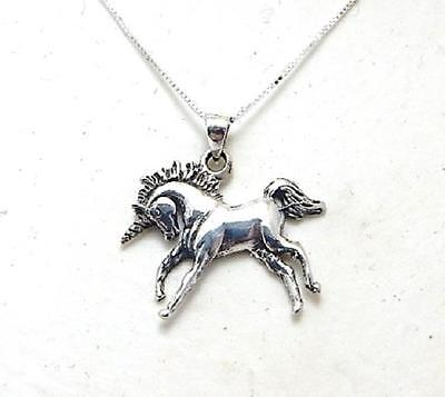 Mythical Unicorn necklace with 18 inch chain 925 sterling silver jewellery gift