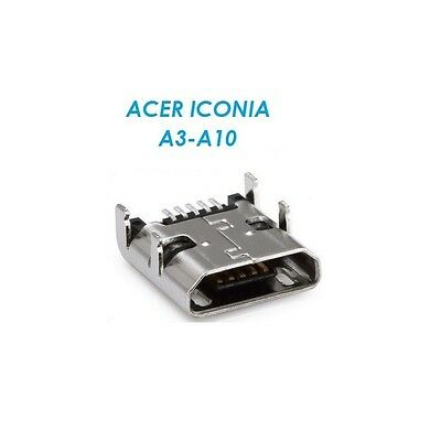 Power USB Micro Charging Jack Socket Port Connector Acer Iconia A3-A10