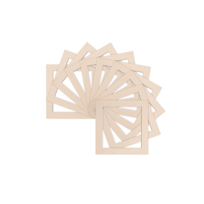 Pack of 5 Instagram Square Picture Photo Mounts Ivory  / Photo Frames