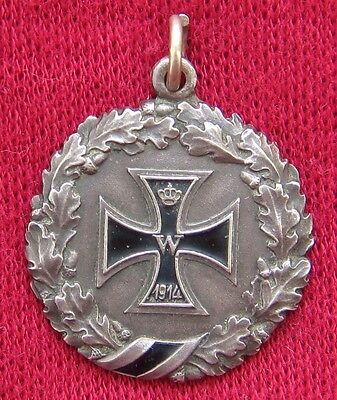 German patriotic pendant WWI Poland Germany trench art Iron Cross