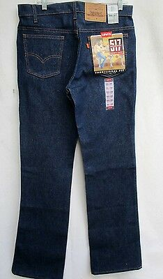 VTG 80's..ORANGE TAB..DEADSTOCK..LEVIS 517..JEANS..34 X 34 MADE USA..NWT