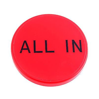All IN Button Red Poker Casino