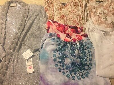 Lot Of Plus Size 1X, 2X Women's Tops And Cardigan
