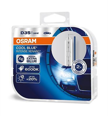 D3S Osram Xenarc Cool Blue Intense Up To 6000K Xenon HID Headlight Bulb DUO BOX
