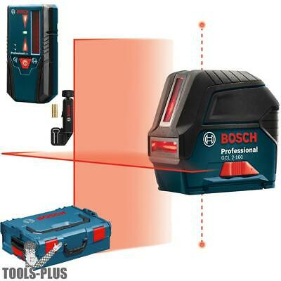 Self-Leveling Cross-Line Laser + LR 6 Line Receiver Bosch Tools GCL2-160+LR6 New