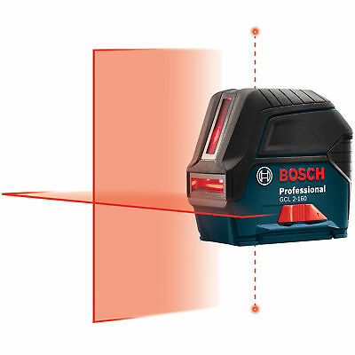 Self-Leveling Cross-Line Laser with Plumb Points Bosch Tools GCL2-160 New