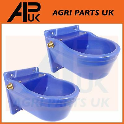 2 QUALITY Automatic Water Bowl Trough Horse Cow Dog Drink Pony Sheep Goat Cattle