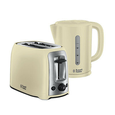 RUSSELL HOBBS DARWIN CREAM 1.7L CORDLESS KETTLE & 2 SLICE TOASTER Brand New Set