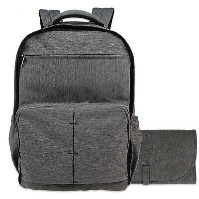 Damero Travel Diaper Backpack Baby Nappy Bag with Large Changing Pad Dark Gray