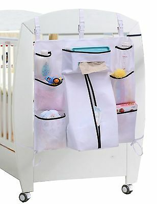 Sleeping Lamb Baby Nursery Organizer Hanging Playard Diaper Caddy for Clothin...