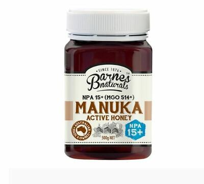 Manuka Honey Active Pure NPA 15+ MGO 514+ 500g Barnes Naturals Australian Qty 1