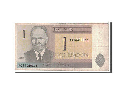 [#118774] Estonia, 1 Kroon, 1992, KM:69a, VF(20-25)