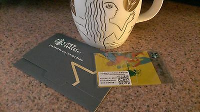 $5 Go! 2016 Starbucks Taiwan NEW Frappuccino Gift Card w/Core Sleeve US Seller