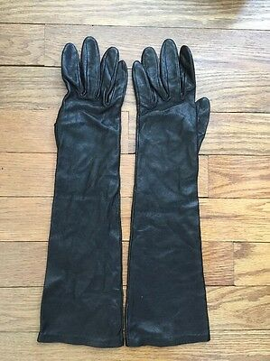 Agnelle Leather Gloves Women's Size 6 1/2 Silk Lined