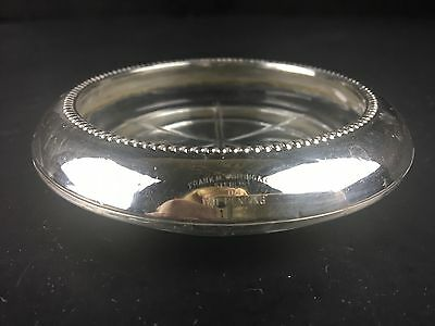 Vintage FRANK M WHITING & CO. Sterling Silver Cut Glass Coaster 04