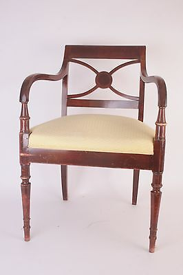 Armchair Stamped Maurice Hirch (Hirsch) - Mahogany & Brass - Armchair - 20th