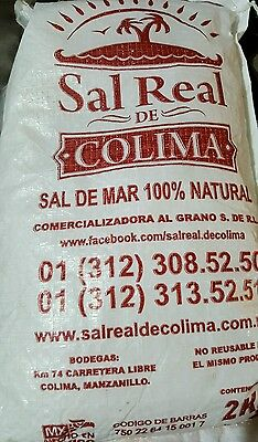 Sal de mar 2 kilos sea salt 100% natural 2.2lb