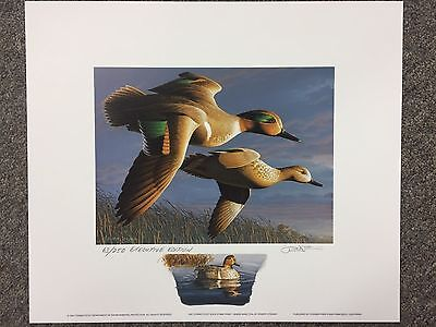 Authentic Limited Edition 1997 CT Executive Edition Duck Stamp Print