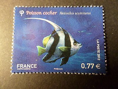 FRANCE 2012, timbre 4648, POISSONS, POISSON COCHER, neuf**, MNH FISH BOX