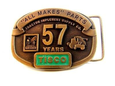 Vintage TISCO 57 Years All Makes All Parts  Belt Buckle