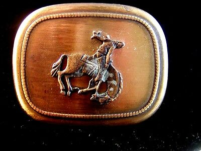 Vintage Broncho Riding Rodeo Belt Buckle Made in U.S.A.