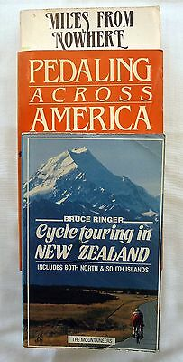 Lot of 3 Bicycling Related Books Paperback 1983-1989 Touring US & International