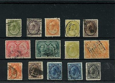 $200 CAt #80 VF, selection of early Canada used