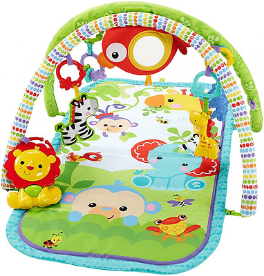 Mattel Fisher-Price CHP85 Rainforest-Freunde Spieldecke, 3-in-1