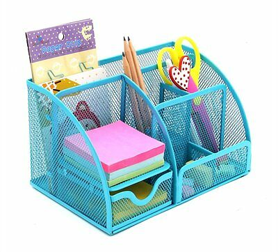 PAG Mesh Desk Organizer Desktop Pencil Holder Office Accessories Caddy with 7