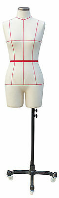 Female Tailors Dummy Cream Dressmakers Fashion Students Mannequin Display Bust
