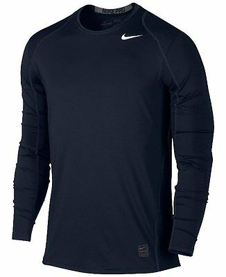 Nike Pro Fitted Dri-Fit Long Sleeve Training T-Shirt Blue Size XL *NWT*