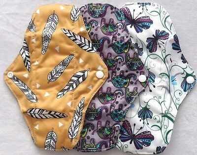 Reusable Bamboo Cloth  Sanitary Pad Medium Regular Flow FREE P&P! BACK IN STOCK