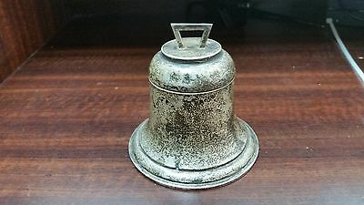 George V. Novelty Solid Silver Inkwell In The Form Of A Bell.