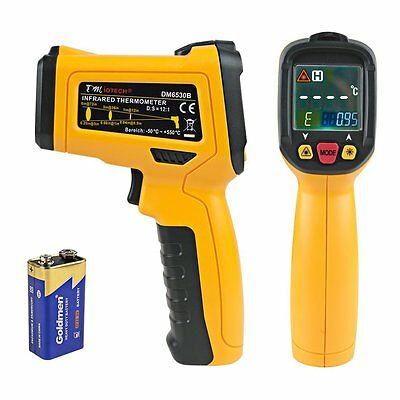 uxcell DM6530B Non-contact Digital Laser Infrared Thermometer GUN Temp Handheld