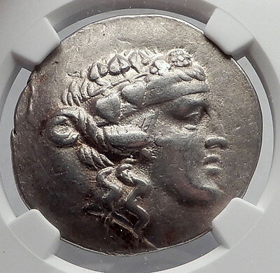 THASOS Thrace 148BC Dionysus Hercules Silver Greek Tetradrachm Coin NGC i60124