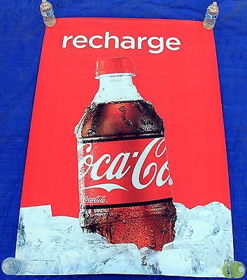 COKE COLA Recharge Promotional 4x6 Bus Shelter Poster